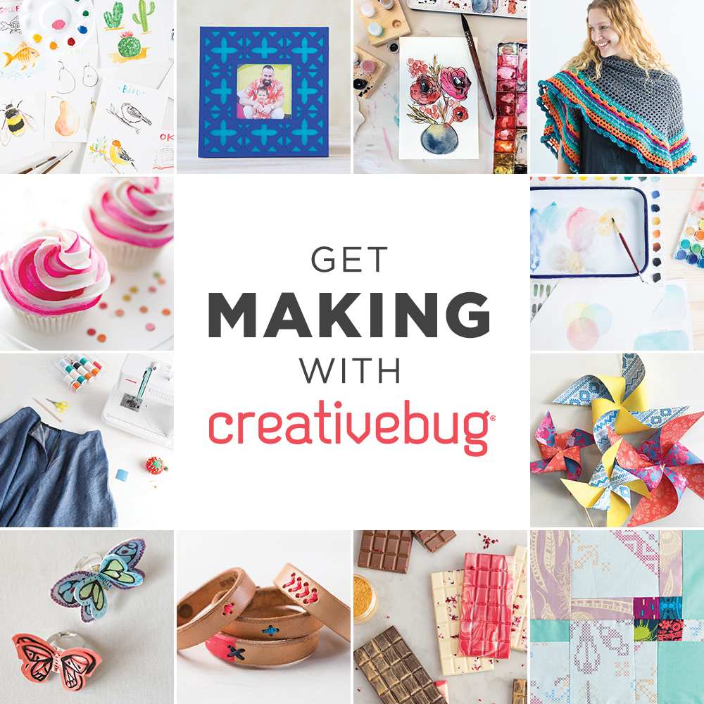 click to access Creativebug with your Curtis library card number!