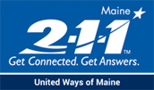 Click to visit 211maine website